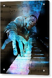 The Piano Man Acrylic Print by Paul Sachtleben