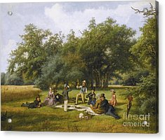 The Picnic Acrylic Print by Celestial Images