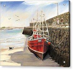 The Pier At Spiddal Galway Ireland Acrylic Print by Irish Art