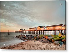 Acrylic Print featuring the photograph The Pier At Sunrise 2 by Colin and Linda McKie