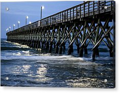 The Pier At The Break Of Dawn Acrylic Print