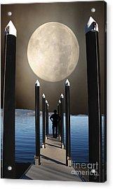 The Pier Acrylic Print by Lozja Mattas