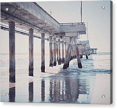 The Pier Acrylic Print by Nastasia Cook