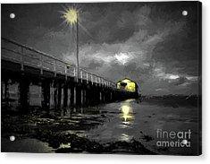 The Pier On The Bay Acrylic Print