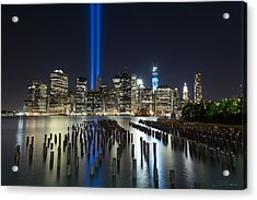 The Pier - World Trade Center Tribute Acrylic Print by Shane Psaltis
