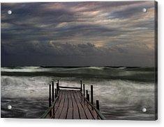 The Pier...ayia Napa Acrylic Print by Stelios Kleanthous