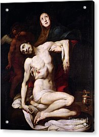 The Pieta Acrylic Print by Daniele Crespi