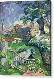 The Pig Keeper Acrylic Print by Paul Gauguin