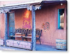 The Pink Adobe Acrylic Print by Bob and Nancy Kendrick