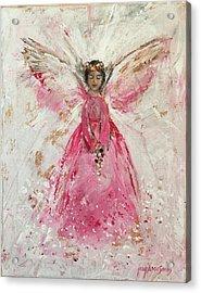 The Pink Angel  Acrylic Print by Jun Jamosmos