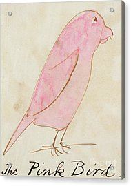The Pink Bird Acrylic Print