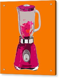 The Pink Blender Acrylic Print by Peter Oconor