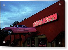 The Pink Cadillac Diner Acrylic Print