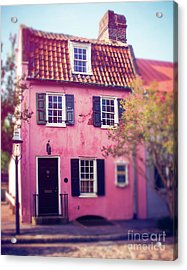 The Pink House Charleston Acrylic Print