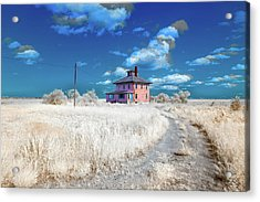 Acrylic Print featuring the photograph The Pink House In Halespectrum 2 by Brian Hale