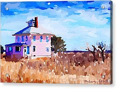 The Pink House, Newburyport, Ma. Acrylic Print