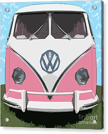 The Pink Love Bus Acrylic Print