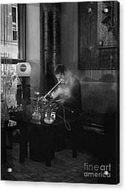 The Pipe Smoker Acrylic Print