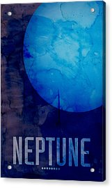 The Planet Neptune Acrylic Print by Michael Tompsett