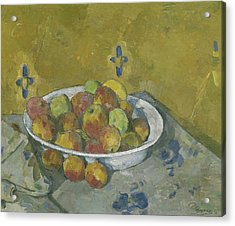 The Plate Of Apples Acrylic Print by Paul Cezanne