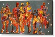 The Players Acrylic Print by Dan  Boylan