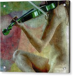 The Playing Of Art Acrylic Print by Steven Digman