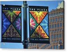 The Plaza Acrylic Print by Joan Bertucci