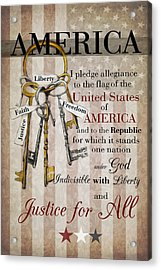 Acrylic Print featuring the photograph The Pledge by Robin-Lee Vieira