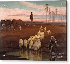 The Ploughman And The Shepherdess Acrylic Print by MotionAge Designs