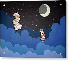 The Plumber And The Princess Acrylic Print by Kenya Thompson