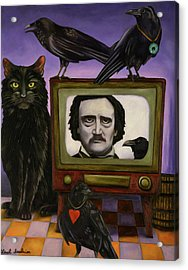 Acrylic Print featuring the painting The Poe Show by Leah Saulnier The Painting Maniac