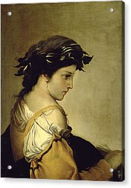 The Poem Acrylic Print by Salvator Rosa