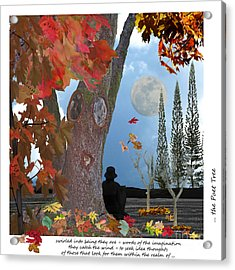 The Poet Tree Acrylic Print by Lozja Mattas