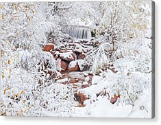 The Poetic Beauty Of Freshly Fallen Snow  Acrylic Print by Bijan Pirnia
