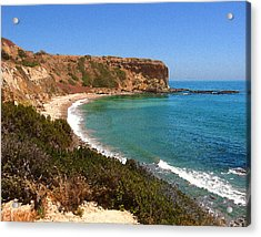 Acrylic Print featuring the digital art The Point At Abalone Cove by Timothy Bulone