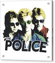 Acrylic Print featuring the digital art The Police by Gina Dsgn