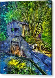 Acrylic Print featuring the photograph Blakes Pond House by Thom Zehrfeld