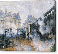 The Pont De Leurope Gare Saint Lazare Acrylic Print by Claude Monet