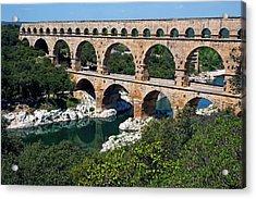The Pont Du Gard Acrylic Print by Sami Sarkis