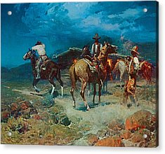The Pony Express Acrylic Print by Frank Tenney Johnson