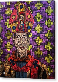 The Pope Of Trash Acrylic Print by Brent Andrew Doty
