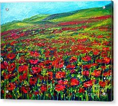The Poppy Fields Acrylic Print