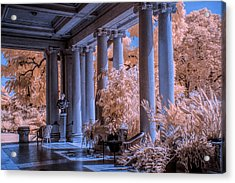 The Porch Of The European Collection Art Gallery At The Huntington Library In Infrared Acrylic Print by Randall Nyhof