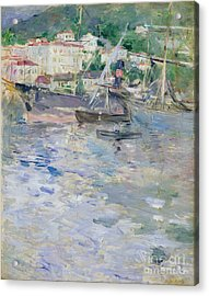 The Port At Nice Acrylic Print by Berthe Morisot