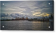 The Port Acrylic Print by Chauncy Holmes