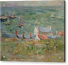 The Port Of Gorey On Jersey Acrylic Print by Berthe Morisot