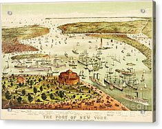 The Port Of New York Harbor Acrylic Print by Pg Reproductions