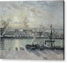The Port Of Rouen Acrylic Print by Camille Pissarro