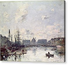 The Port Of Trade Acrylic Print by Eugene Louis Boudin