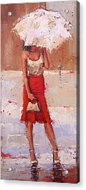 Acrylic Print featuring the painting The Pose by Laura Lee Zanghetti